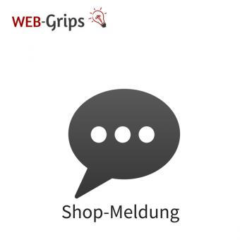 Shop-Meldung - Alert im Overlay CE/PE | 4.10.x