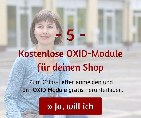 5 kostenlose Module für OXID eShop herunterladen