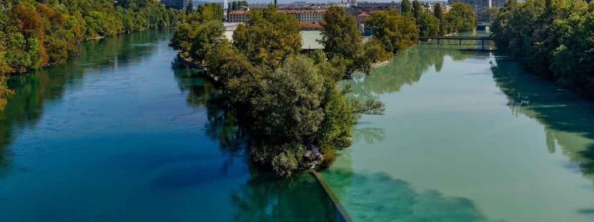 Fluss Gabelung