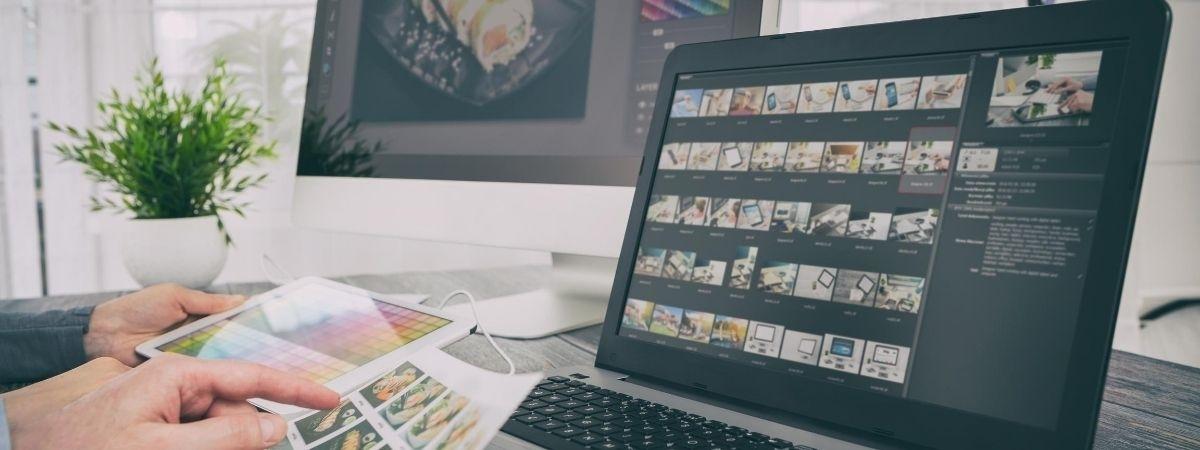 Design Seite mit Vorschlägen