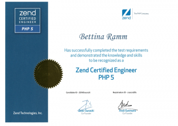 Zend Certified Engineer Bettina Ramm